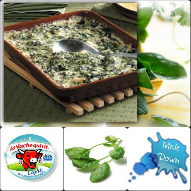 Σουφλέ σπανάκι με La Vache Qui Rit® Light