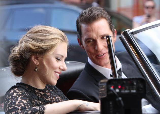 Matthew McConaughey- Scarlett Johansson: Μαζί για το άρωμα The One! Δες backstage photo!   tlife.gr