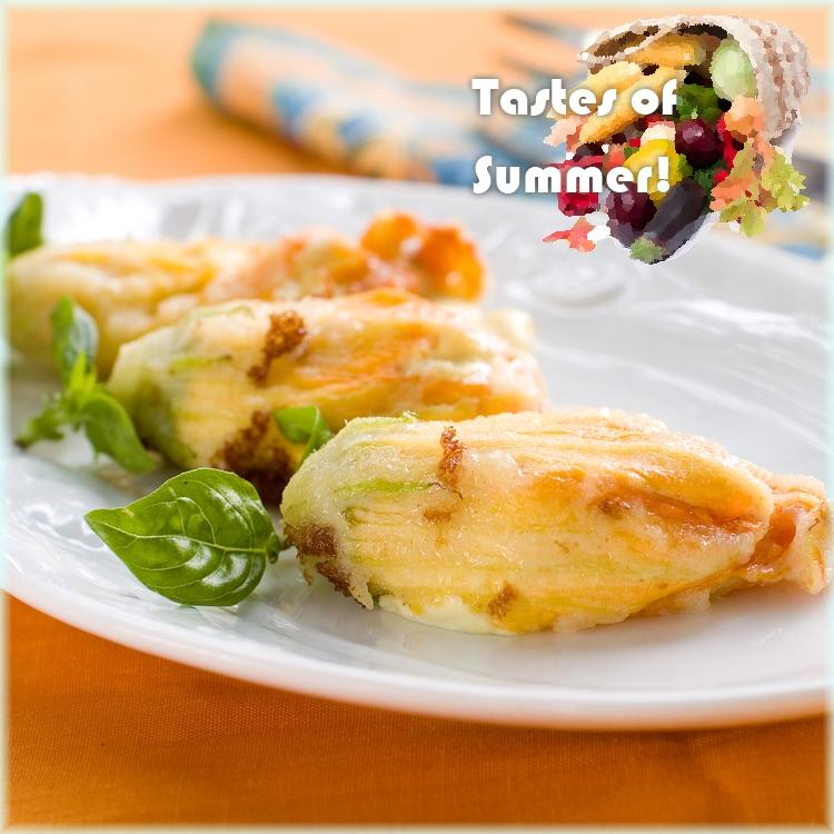 4   Κολοκυθοανθοί γεμιστοί με τυρί ricotta