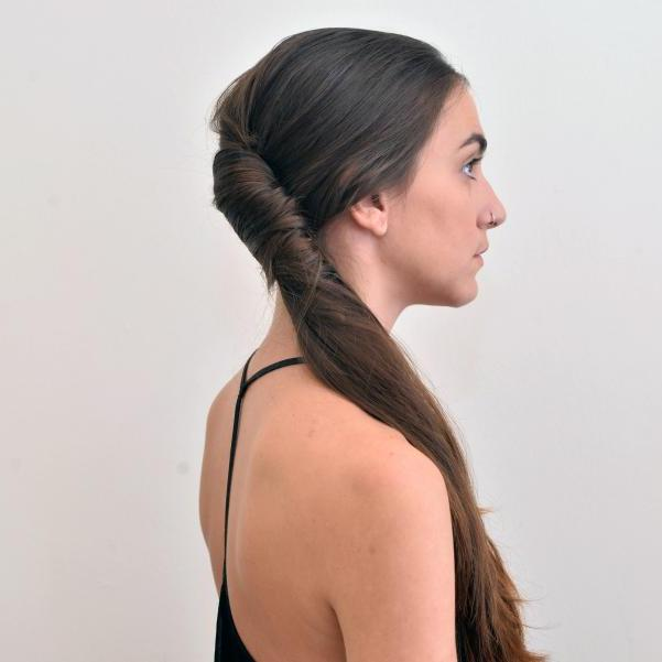 10 | French twist ponytail
