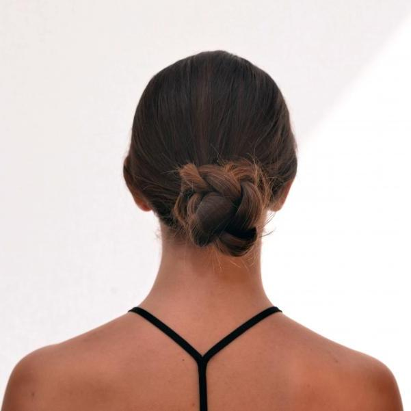 1 | Low braided bun