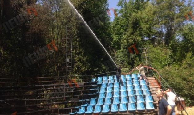 Μεγάλη φωτιά στο ρέμα Χαλανδρίου – Καταστράφηκε το Ευριπίδειο Θέατρο Ρεματιάς | tlife.gr