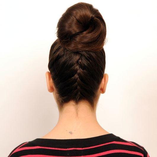 9 | Top knot με γαλλική!