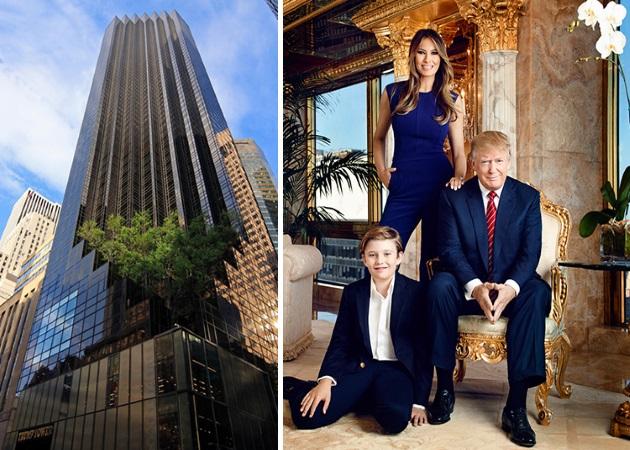 Donald Trump –  Melania Trump: Δες το «παλάτι» που κατοικούν στον Πύργο Τραμπ!   tlife.gr
