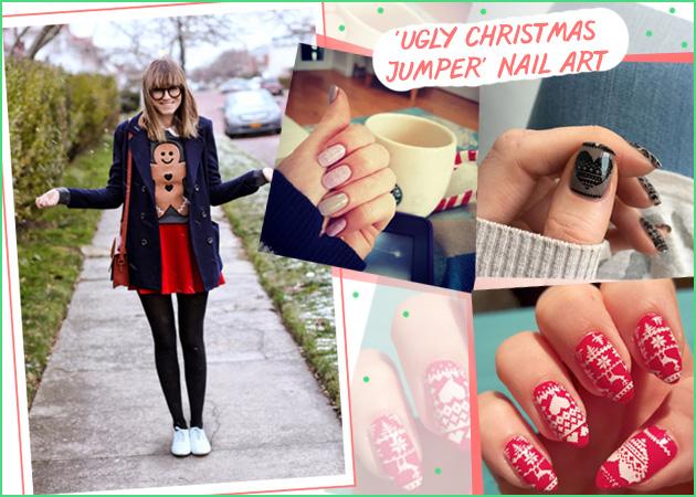Ugly Christmas Jumper! Το νέο nail trend στα νύχια που πρέπει να κάνεις από τώρα! | tlife.gr