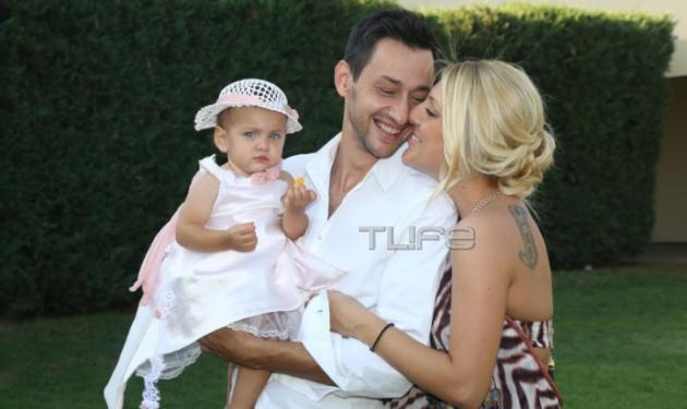 Π. Καλίδης – Ε. Μαρκόγλου: Βάφτισαν την κόρη τους! Φωτογραφίες | tlife.gr