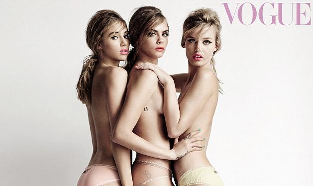 Suki, Cara, Georgia May Jagger: Ποζάρουν φορώντας μόνο ψηλοτάκουνα για τη Vogue! | tlife.gr