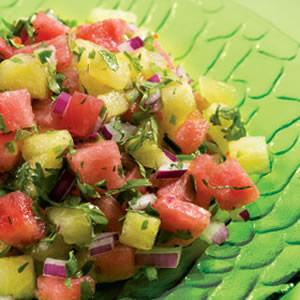 Καυτερή σαλάτα καρπούζι