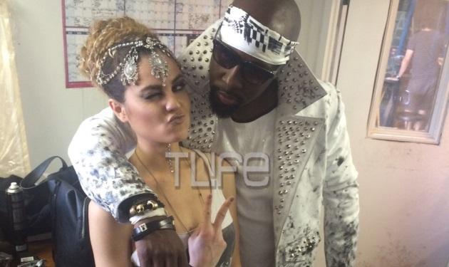 Xenia Ghali: Στη Νέα Υόρκη τα γυρίσματα του νέου της video clip με τον διάσημο ράπερ Wyclef Jean! Backstage φωτογραφίες | tlife.gr