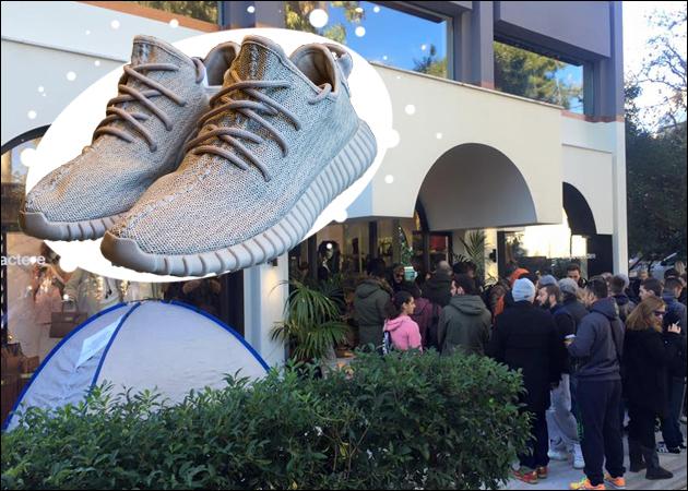 Φρενίτιδα με τα αθλητικά παπούτσια του Kanye West στην Κηφισιά – Κατασκήνωσαν έξω από το μαγαζί! | tlife.gr