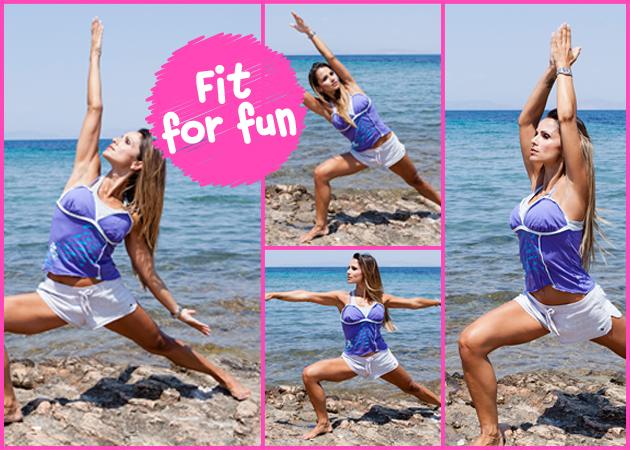 Yoga στην παραλία! Η Σόφη Πασχάλη έχει τις ασκήσεις για να γυμνάσεις χέρια, πόδια και κοιλιά