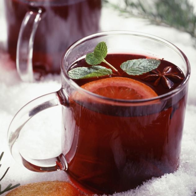 Ζεστό κρασί με τσάι