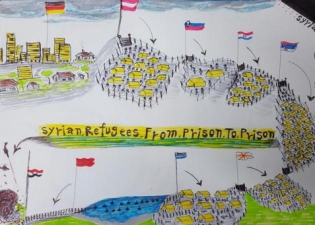 Η συγκλονιστική ζωγραφιά του προσφυγόπουλου! Δες photo