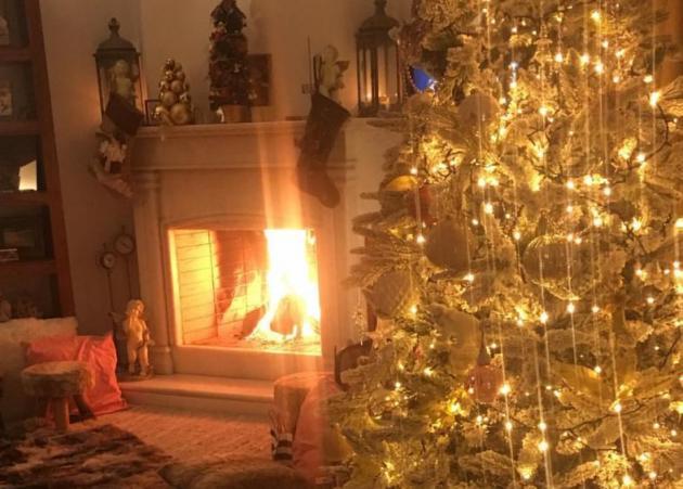 Η Μάγδα Τσέγκου μας δείχνει τα υπέροχα στολισμένο σαλόνι της! [pics]