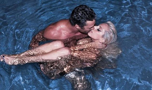 Η Lagy Gaga γυμνή στην πισίνα μαζί με τον σύντροφό της  Taylor Kinney!   tlife.gr