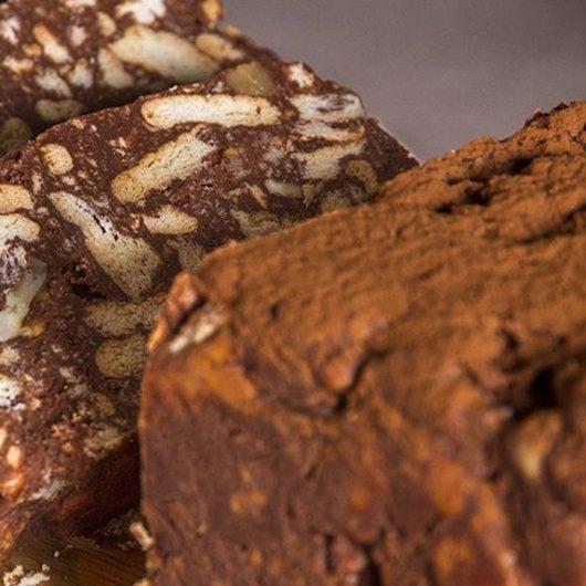 Μωσαϊκό (κορμός) σοκολάτας με κουραμπιέδες | tlife.gr