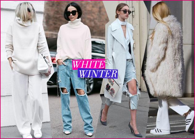"""779c615ba7af Λευκό το χειμώνα  11 τρόποι για να φορέσεις αυτό το """"απαιτητικό"""" χρώμα"""