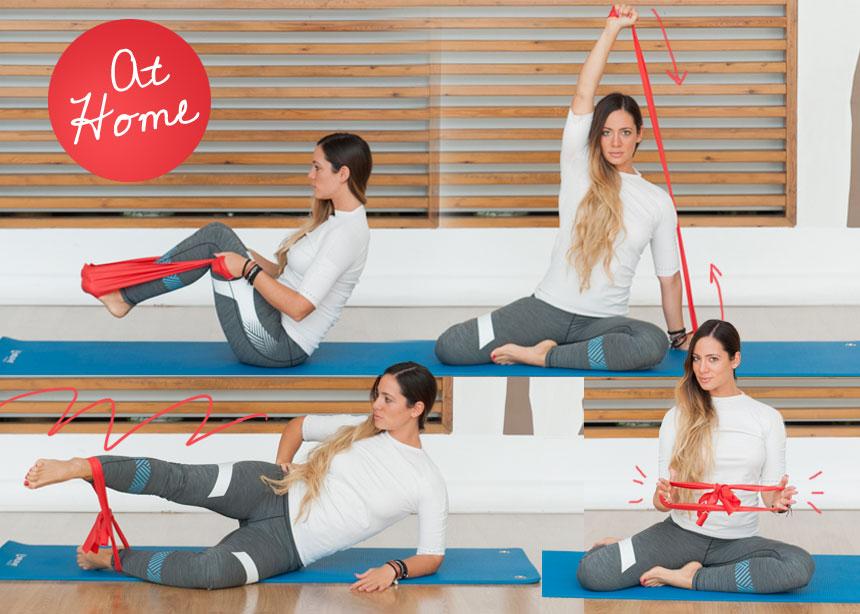 Γυμναστική στο σπίτι: Ασκήσεις με λάστιχο για τέλεια γράμμωση σε όλο το σώμα | tlife.gr