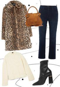 Lux look με leopard παλτό