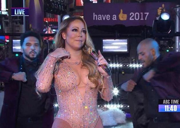 Απίστευτο ξέσπασμα της Mariah Carey στην Times Square! «Φιάσκο» η live εμφάνισή της
