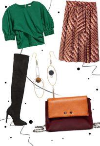 Cheap & chic look με πολύχρωμη φούστα!