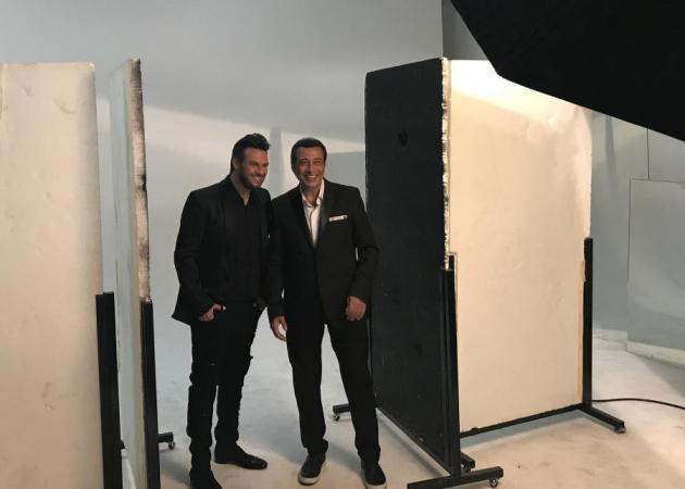 Πάνος Κιάμος – Αντύπας: Backstage φωτογραφίες από την συνεργασία τους! | tlife.gr