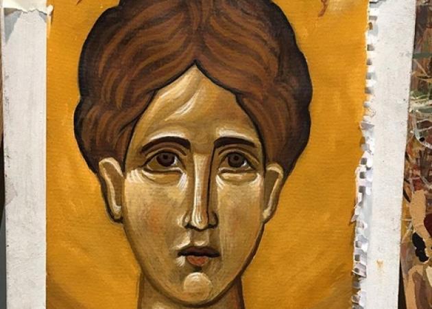 Διάσημη Ελληνίδα ηθοποιός ζωγράφισε την πρώτη της βυζαντινή εικόνα! | tlife.gr