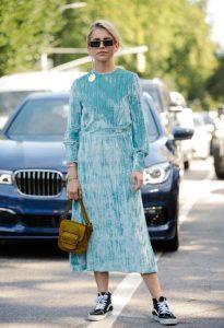 Νέα Υόρκη με βελούδινο φόρεμα