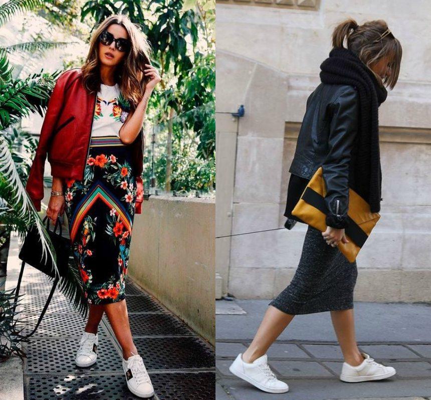 Όσον αφορά τον προβληματισμό σου σχετικά με το τι πανωφόρι να φορέσεις με την  pencil φούστα και τα sneakers d36ef3be8eb