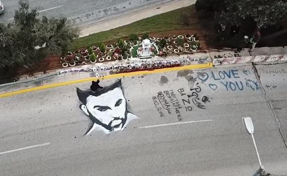 Παντελής Παντελίδης: Το graffiti με το πρόσωπό του στο σημείο που σκοτώθηκε και η αντίδραση της Μίνας Αρναούτη VIDEO | tlife.gr