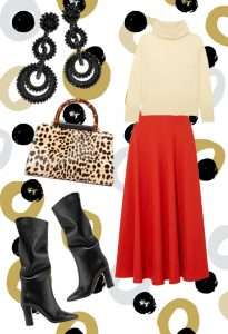Lux color skirt look