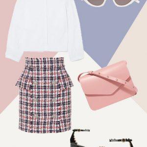 The lux tweed skirt look