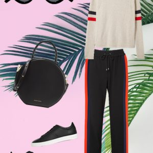 The lux track pants look