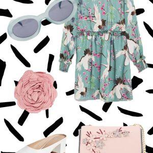 To μίνι floral φόρεμα