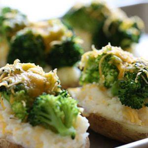 Πατάτες γεμιστές με light κρέμα