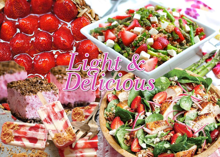 Έφτασε η εποχή της φράουλας και αυτές είναι οι πιο γευστικές και light συνταγές που αξίζει να δοκιμάσεις