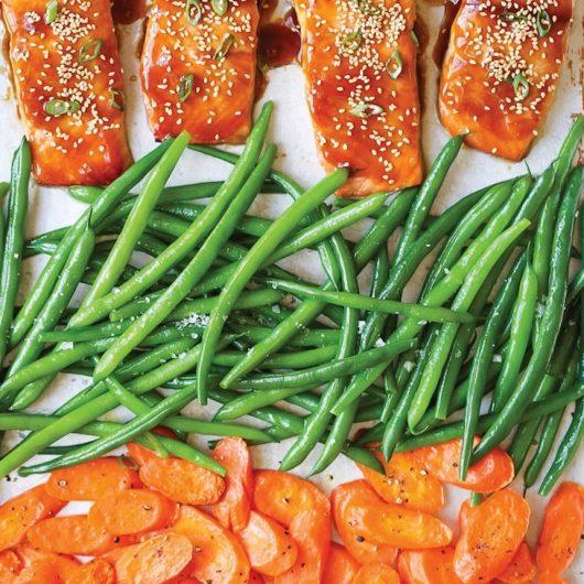 Σολομός teriyaki με ψητά λαχανικά | tlife.gr