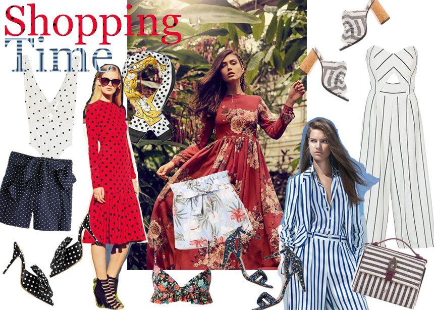ee479804adc Πουά, φλοράλ, ρίγες: Ρούχα και αξεσουάρ με τα prints που οφείλουμε να  φορέσουμε φέτος