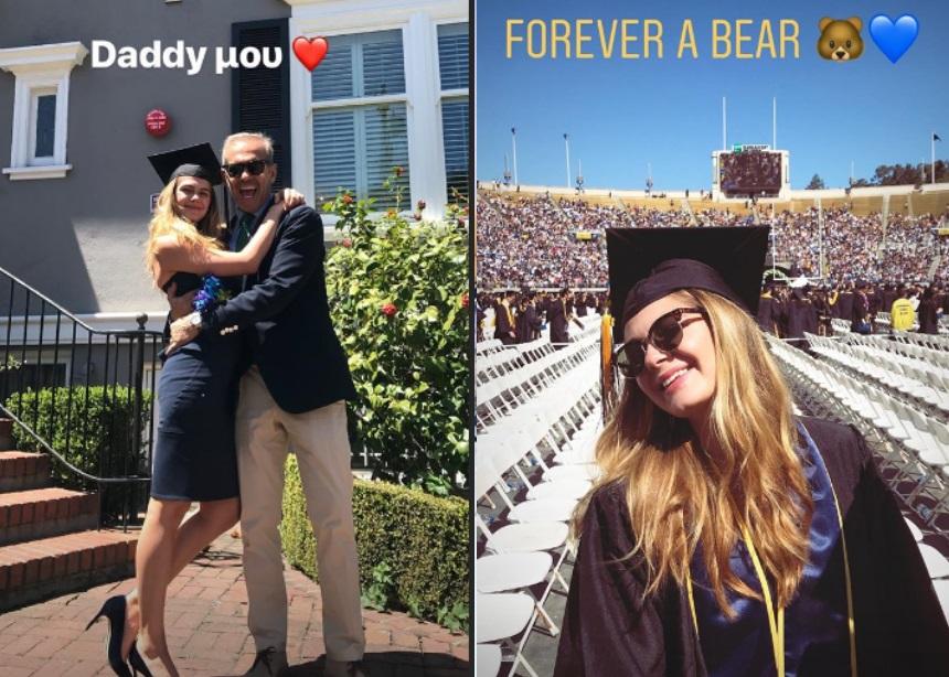 Πέτρος Κωστόπουλος: Στην Αμερική για την αποφοίτηση της κόρης του Αμαλίας! [pics]