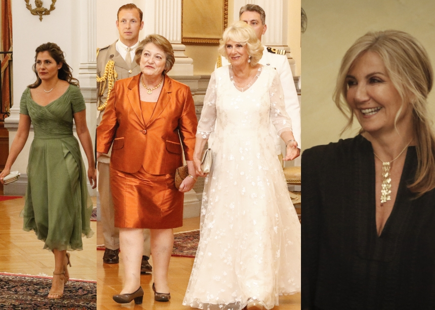 Λαμπερές εμφανίσεις στο Προεδρικό Μέγαρο για το δείπνο προς τιμήν του Κάρολου και της Καμίλα! | tlife.gr