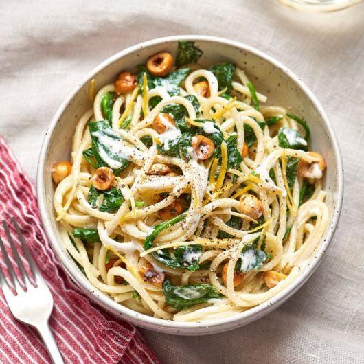 Σπαγγέτι με σάλτσα μασκαρπόνε και λεμονιού   tlife.gr