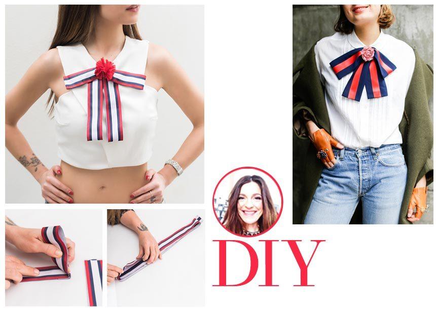 DIY: Πως να φτιάξεις το γνωστό Pussy Bow του Gucci που θα ανανεώσει τις καλοκαιρινές σου εμφανίσεις   tlife.gr