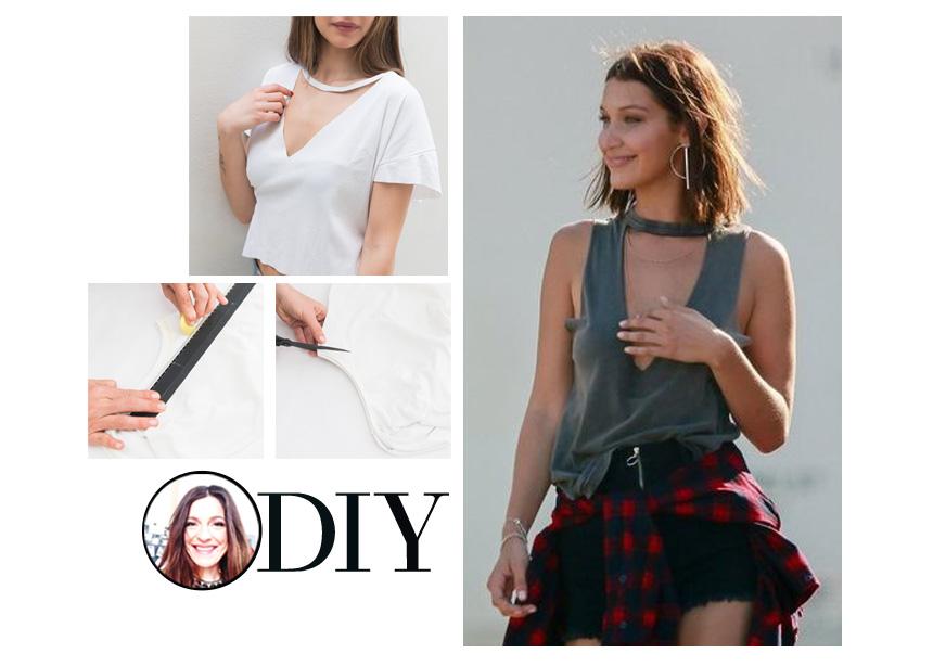 DIY: Πως να φτιάξεις μόνη σου το σέξι τοπ της Bella Hadid | tlife.gr