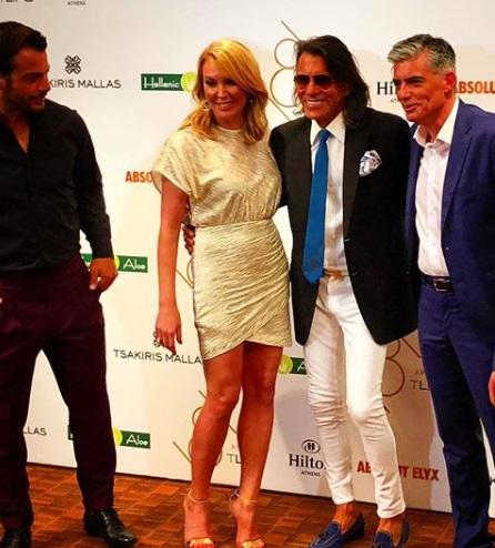 Ηλίας Ψινάκης: Η φωτογραφία με την Τατιάνα Στεφανίδου από το πάρτι του TLIFE που έγινε viral! | tlife.gr