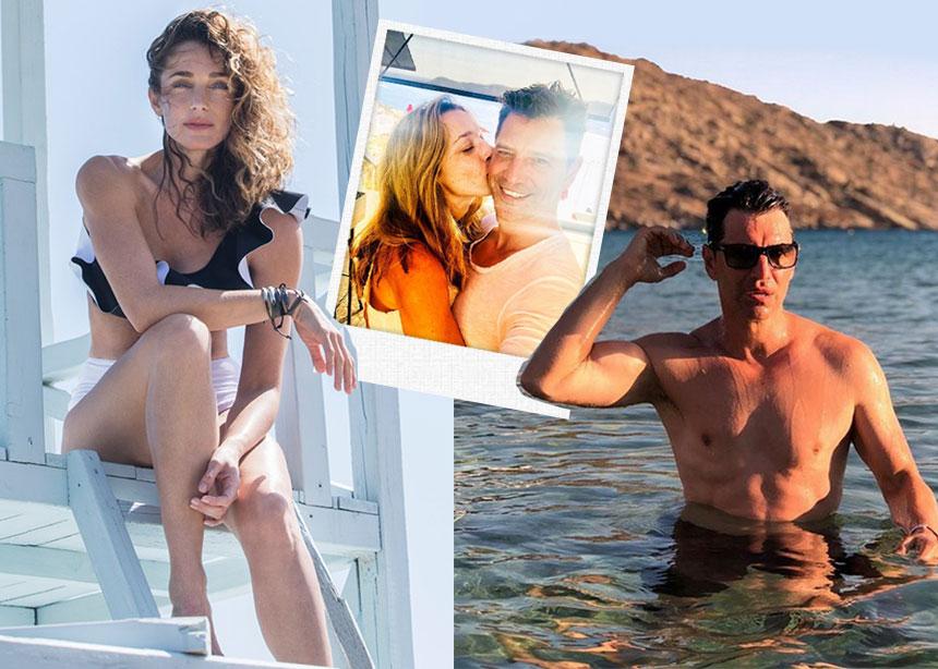 """Σάκης Ρουβάς – Κάτια Ζυγούλη: Οι διακοπές στην Ίο και η φιλία με τη """"βασίλισσα"""" του νησιού! Φωτογραφίες"""