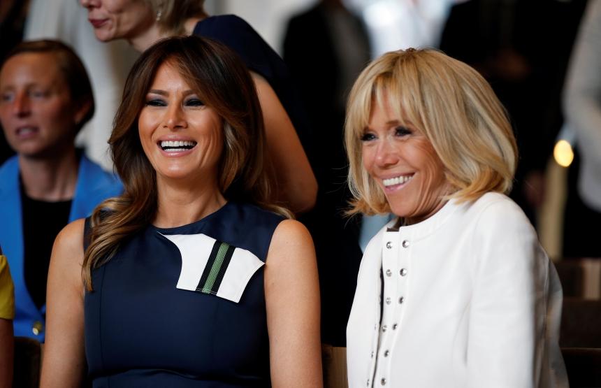 Brigitte Macron – Melania Trump: Πλάι πλάι σε συναυλία στο Βατερλό! | tlife.gr