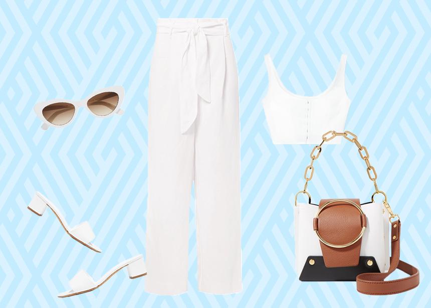Ρούχα και αξεσουάρ σε λευκό χρώμα για άκρως στιλάτες εμφανίσεις το καλοκαίρι