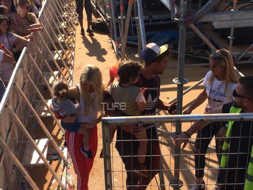 Στέλιος Χανταμπάκης – Όλγα Πηλιάκη: Με την όμορφη οικογένειά τους στο Colour Day Festival 2018! [pics,video]   tlife.gr