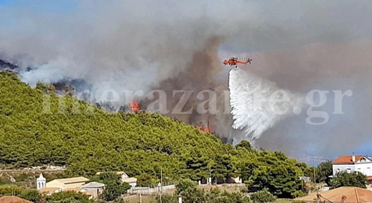 Δύο πυρκαγιές με διαφορά λίγων λεπτών ξέσπασαν στη Ζάκυνθο – Φωτιά και στην Άνδρο | tlife.gr