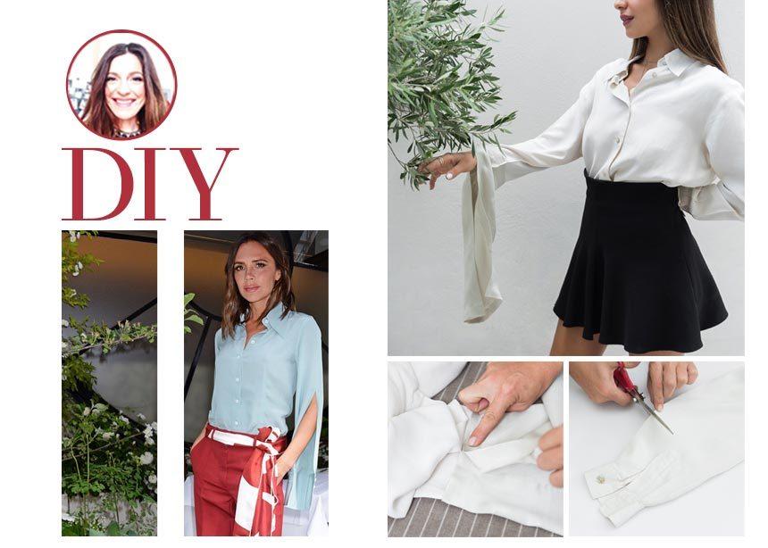 DIY: Εμπνευστήκαμε από το τοπ της Victoria Beckham με τα statement sleeves και σου δείχνουμε πως να το φτιάξεις   tlife.gr